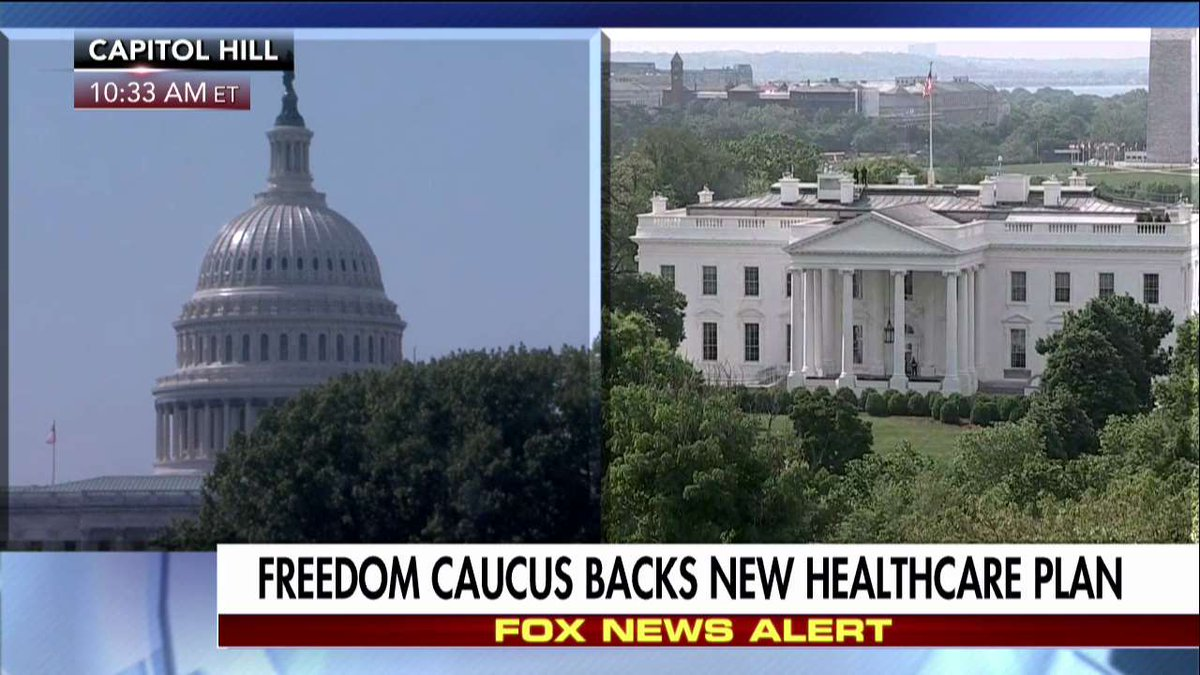 Freedom Caucus backs new healthcare plan.