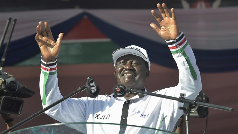 Raila Odinga has been named as Kenya's opposition presidential candidate