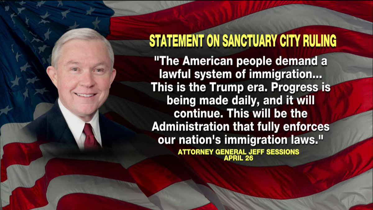 AG Sessions's statement on sanctuary city ruling.