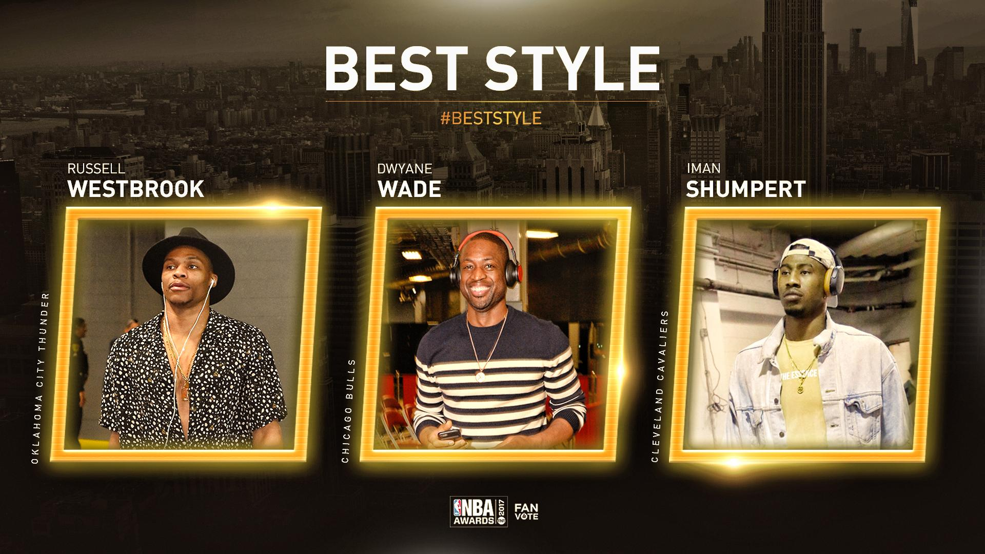 Which player had the best style this year?   Vote using player's name and #BestStyle.  #NBAAwards https://t.co/UqMZJFJypT
