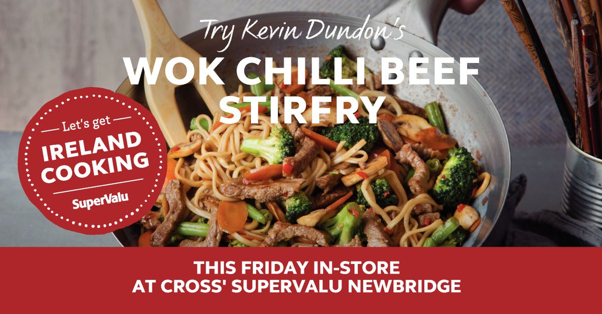 Have you tried Kevin Dundon's Wok Chilli Beef Stirfry? Tomorrow is SuperValu's Get Ireland Cooking Day #GetCooking https://t.co/bO1GYSQ5n9