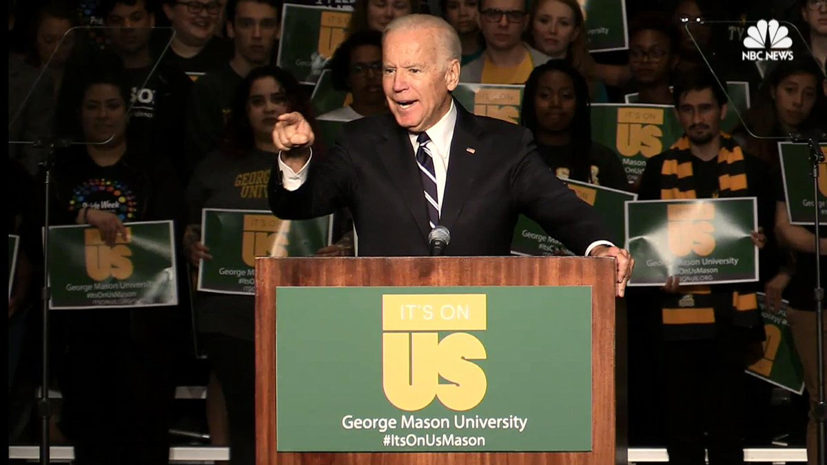 "Joe Biden to college men: ""A woman who's dead drunk cannot consent. You are raping her."""
