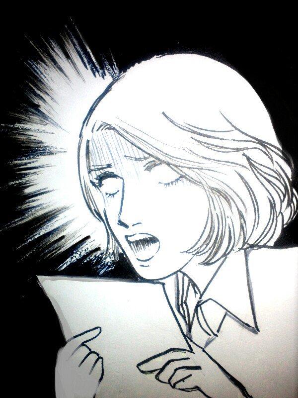 そう(笑)ガラスの仮面のやつです(笑)例:前に、山本さんの逃げ恥実況用に描いたガラカメ風百合ちゃん