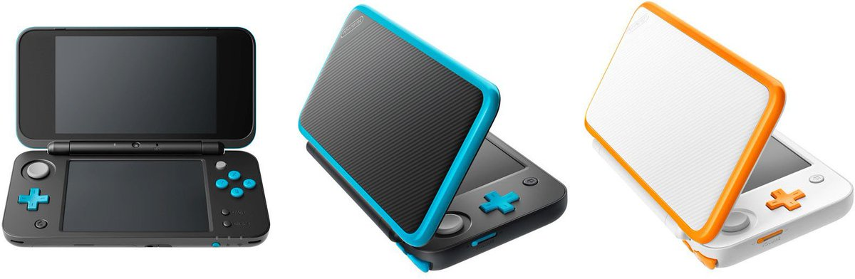 "tweet-Nintendo will be releasing a ""New Nintendo 2DS XL"" on July 28th for $149.99! It'll come in white/orange and black/turquoise coloring. https://t.co/JXZbD56txt"