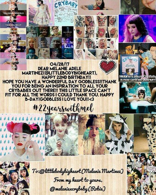 HAPPY BIRTHDAY MELANIE ADELE MARTINEZ!! I LOVE YOU PLS. NOTICE ME!!