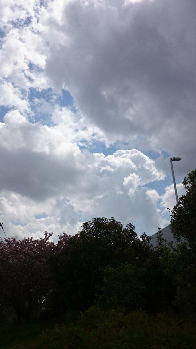 移動中に、空を見上げてパシャり📷ラピュタ雲のようなものが、モクモク✨怪しげな雲が多いです。雨がぱらつく事がありました。😱