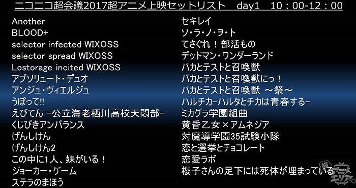 アニメOP全356作品の上映リストが公開!『ドラゴンボール超』など人気作品が集結  #ニコ超2017 #chokaigi