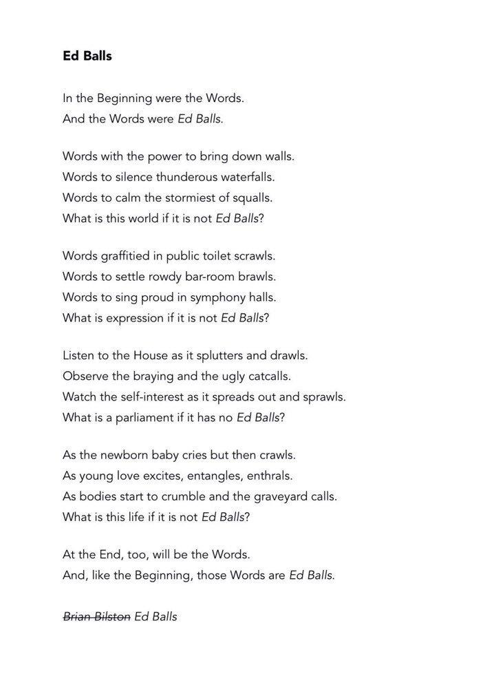 test Twitter Media - RT @brian_bilston: Poem for Ed Balls Day.  #EdBallsDay https://t.co/KdjNHD1eV0
