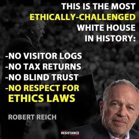 @foxandfriends @realDonaldTrump Speaking of ethics... #FridayFeeling #MarchForTruth