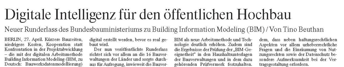 test Twitter Media - Tino Beuthan heute zum digitalen Bauen im #Hochbau in @FAZ_Immobilien ^ff #BIM #Digitalisierung https://t.co/V5ZSnpCQQC
