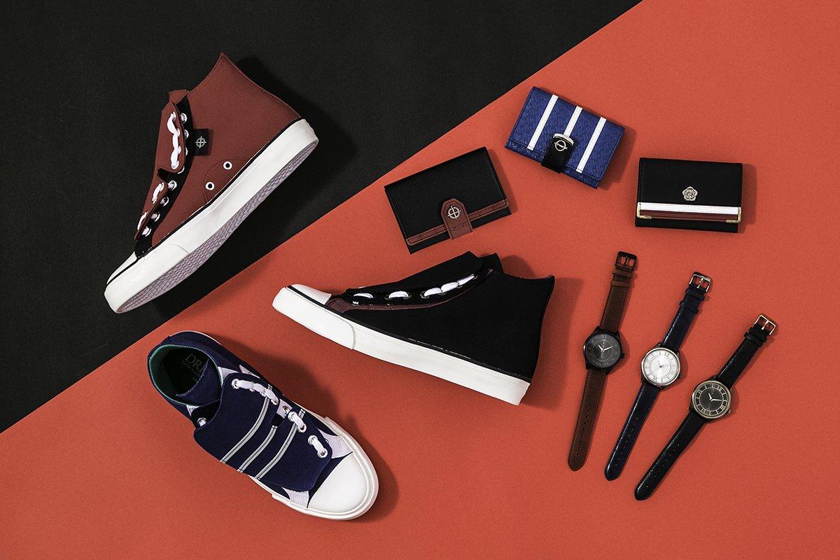 『ドリフターズ』より、腕時計&カードケース&スニーカーが登場! 島津豊久モデル、織田信長モデル、那須与一モデルの全3種の