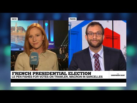 VIDEO -  French high school students make their voices heard while Le Pen goes fishing