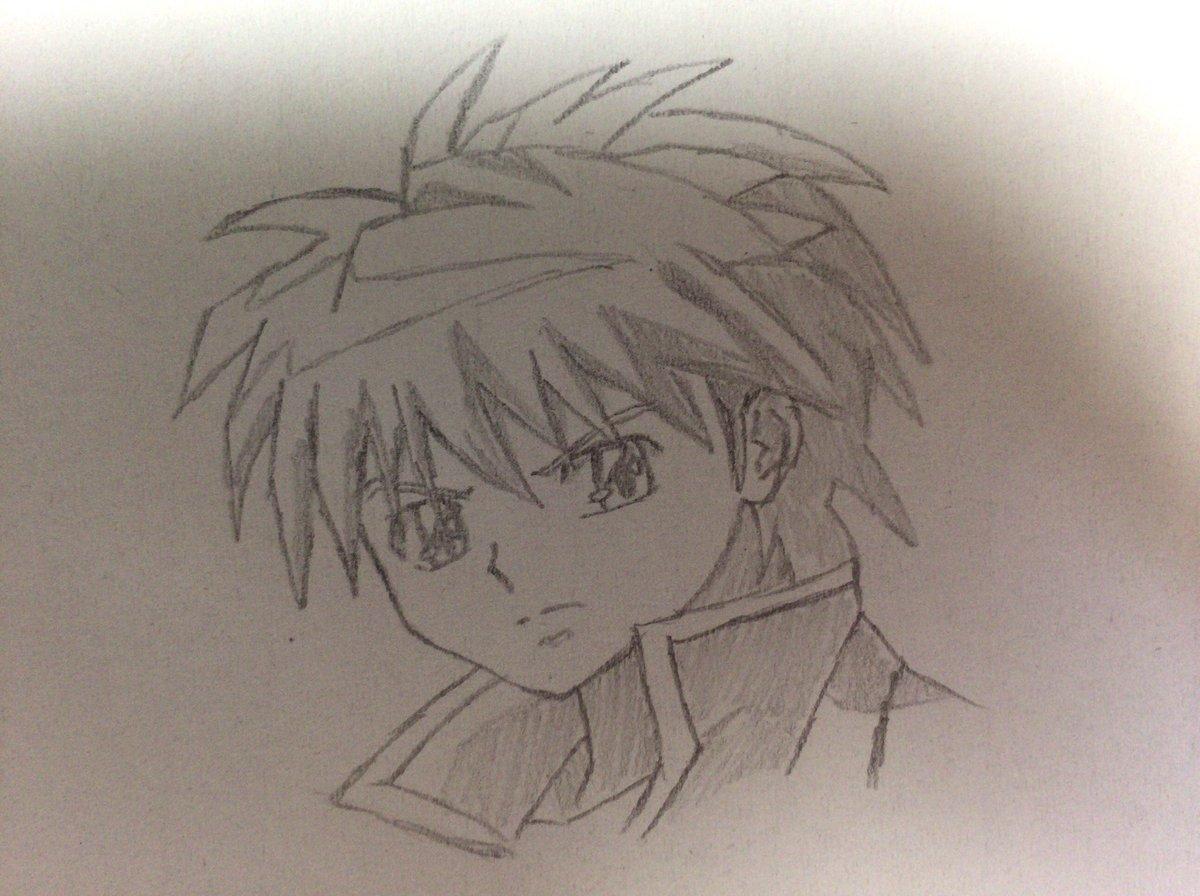 境界のRINNE から 六道りんねと間宮桜を描いてみました。明日はアネットさんが出るので楽しみです(^^)#anime_