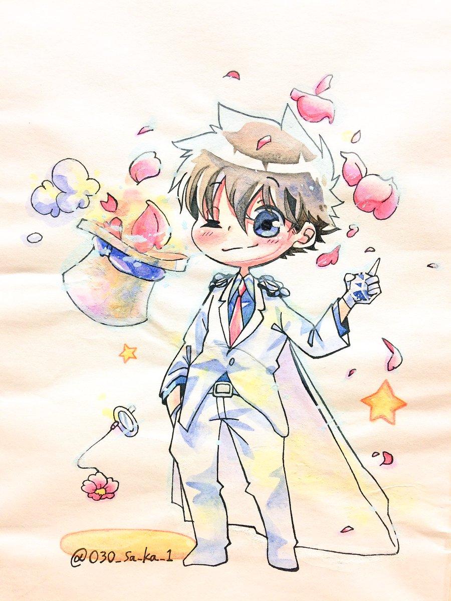桜の季節には少し遅くなってしまったけれど…お祝いも兼ねて桜キッドをば🌸まじ快再連載おめでとうありがとう!#春の桜キッド祭