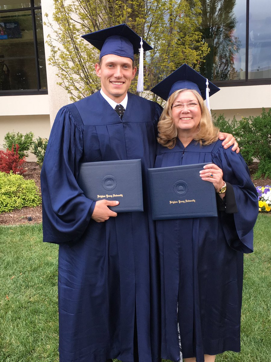 RT @kslmrichards: This mom and son graduated together today from @BYU! I am writing up their story right now. https://t.co/ws7ImTBacc