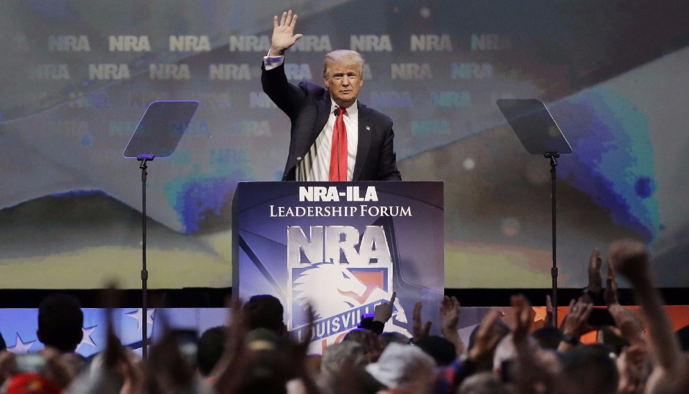 Guns are banned from Trump's NRA speech and people can't help but notice the irony