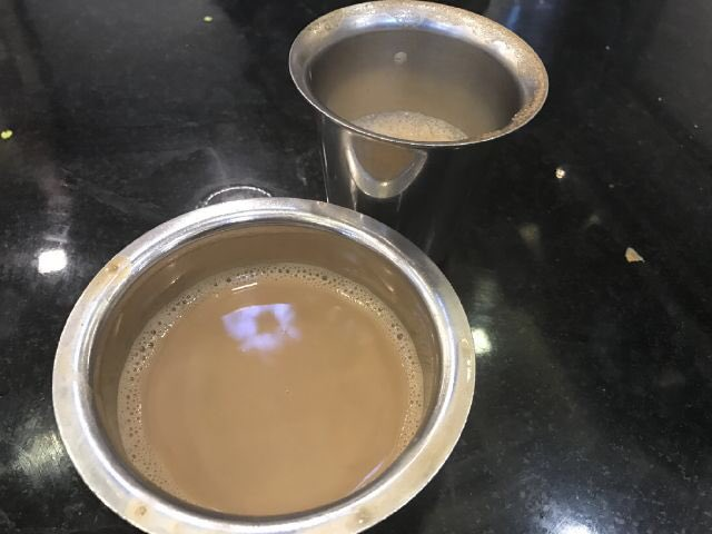 Perfect way to end my 2-day visit to Tamil Nadu - with a cup of amazing filter coffee -)