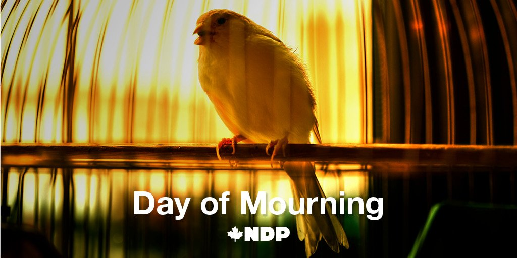 Canadian workers deserve protection on the job, and their loved ones deserve justice. #DayofMourning #NDP #cdnpoli
