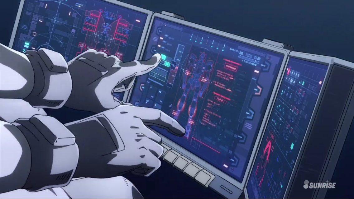 コックピットのこういうパネルがちゃんと作り込まれていて好き相変わらずサンダーボルトは漫画併用でアニメみると面白い😊#g_