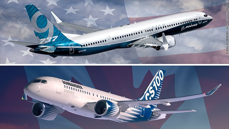 Boeing has asked US trade officials to slap tariffs on a Canadian rival