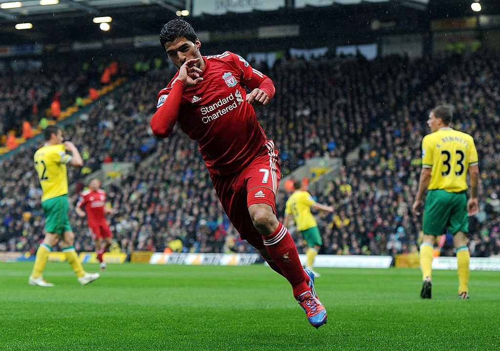 🗓 #OnThisDay in 2012, @LuisSuarez9 bagged a hat-trick in a 3-0 win over Norwich...
