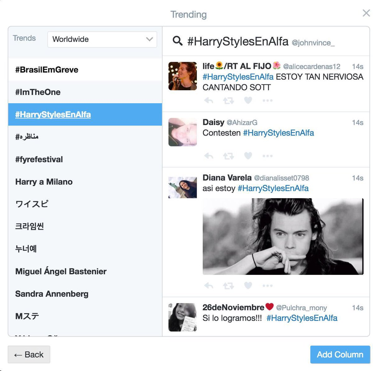 #HarryStylesEnAlfa #Directiones ¡Gracias a ustedes somos TT a nivel mundial! 🇲🇽🙏🏼👏🏼 @Harry_Styles