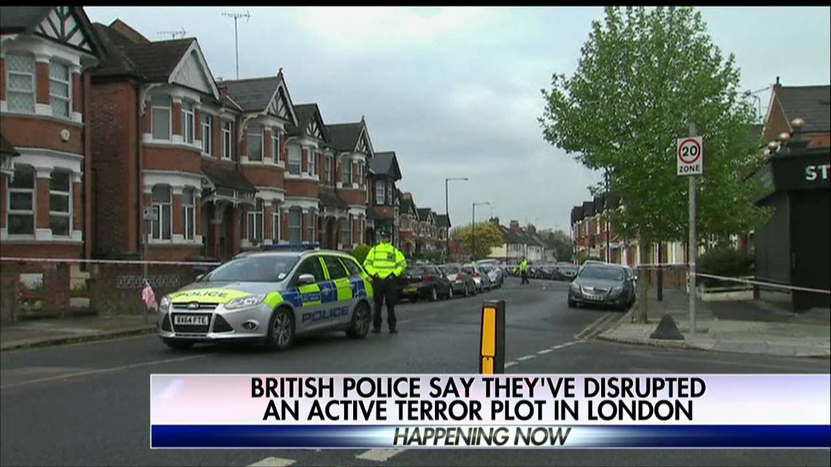 British police say they've disrupted an active terror plot in London.
