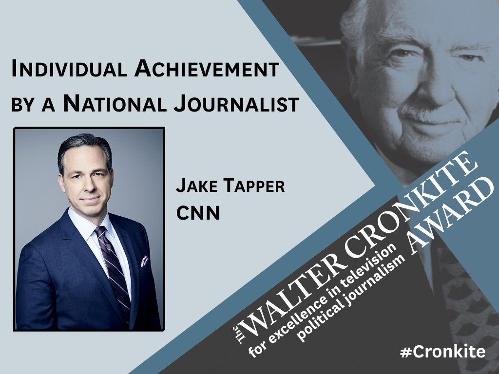 RT @LearCenter: Congratulations @JakeTapper on the #Cronkite Award for National Individual Achievement! https://t.co/vn1Q50mnNU