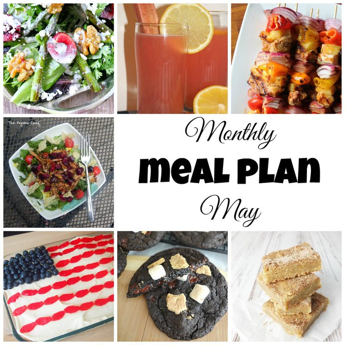 Monthly Meal Plan: May
