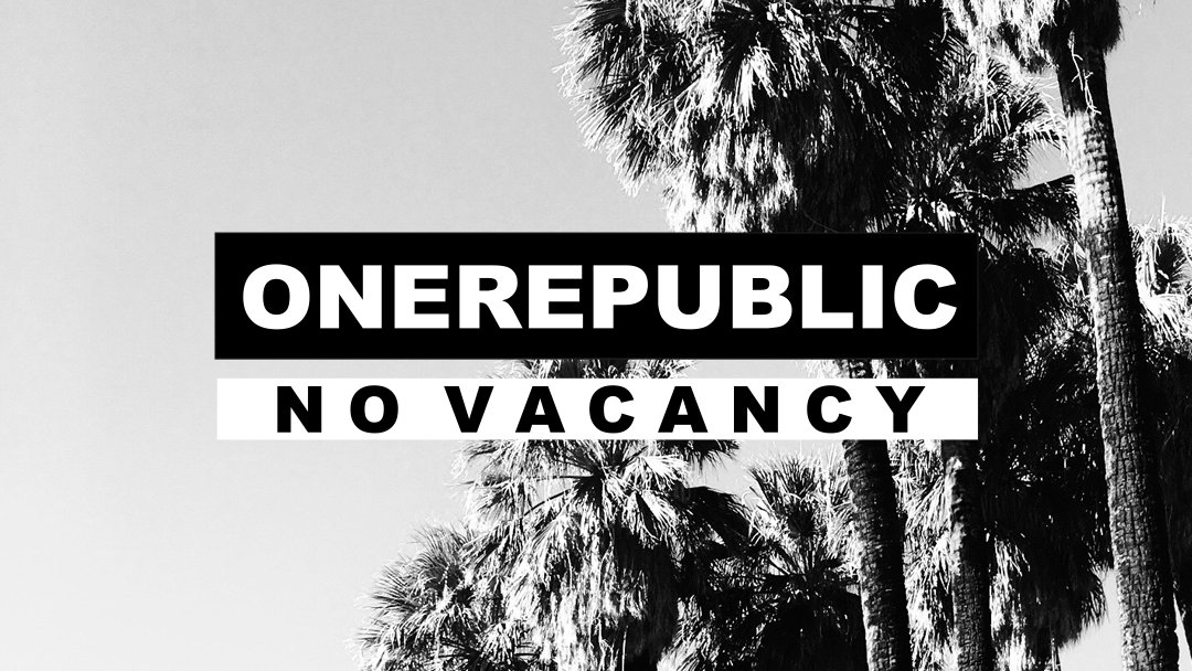 Listen to @OneRepublic's all new track #NoVacancy https://t.co/4NL1F0x7e3 https://t.co/YfC35zIf7q