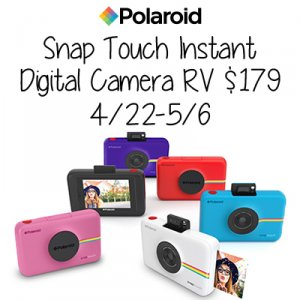 Polaroid Snap Touch Instant Camera Giveaway