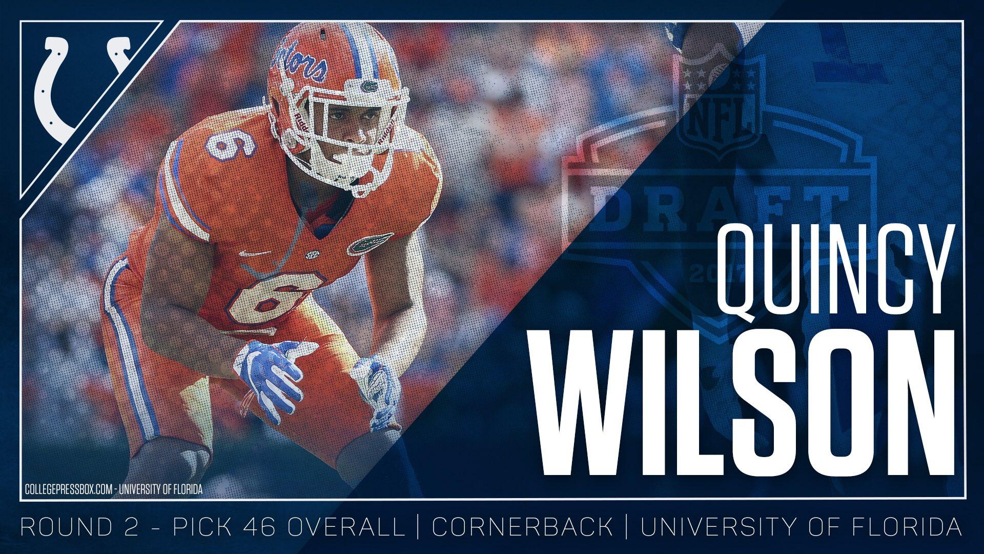 Welcome to the horseshoe, Quincy Wilson!   #ColtsDraft #NFLDraft https://t.co/eCUOjGke5G