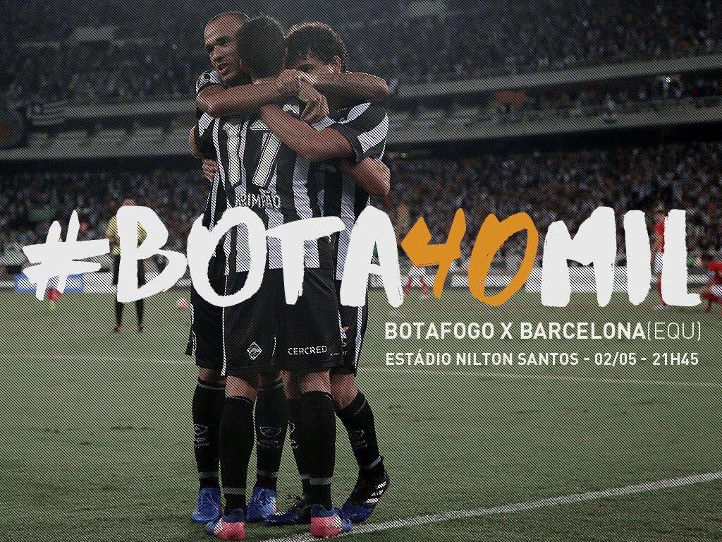 Bota40Mil Botafogo faz campanha para torcida lotar o Nilton
