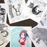 中田ゆみ先生の『おくさまが生徒会長!』当店で付く特典ペーパーですが、5~9巻は当店描き下ろし、10,11巻は応援店共通イ