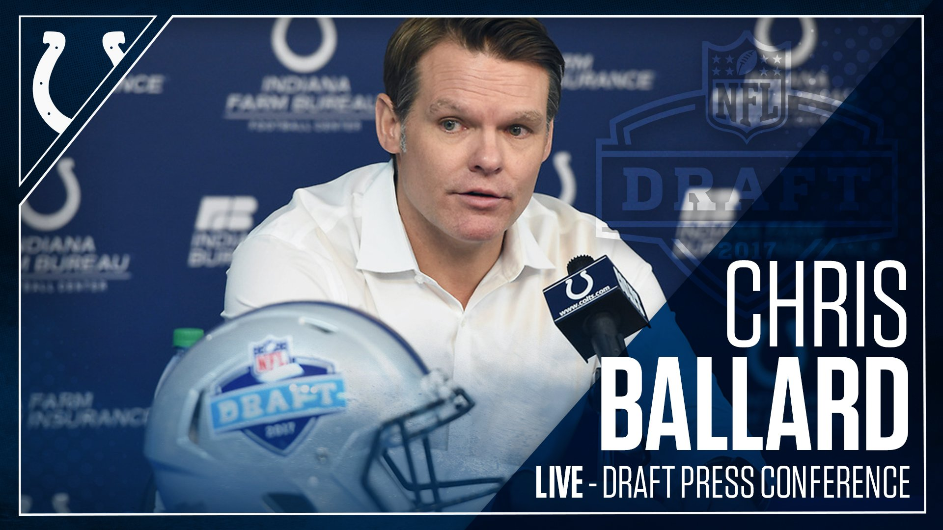 GM Chris Ballard is LIVE talking all things #ColtsDraft.  WATCH:  �� https://t.co/od6w2Cl8Ps      �� Colts Mobile App https://t.co/WL14h1DZto