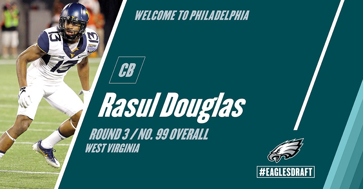 Welcome to Philly, Rasul! #EaglesDraft   Instant reaction: https://t.co/Q1oT76Hh5N https://t.co/pXEasMnhGo