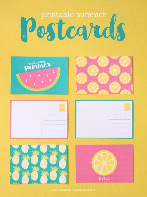 printable freebies postcard