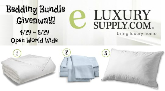 Spring Cleaning Bedding Bundle Giveaway with eLuxurySupply