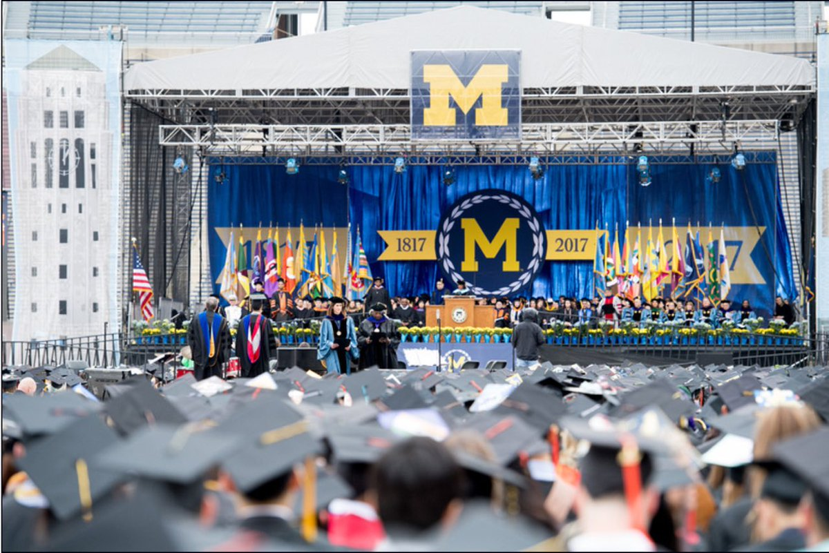 RT @DrMarkSchlissel: Class of 2017, @UMich's third century is now yours. Go discover. Go achieve. Go serve. And Go Blue! #MGoGrad https://t…