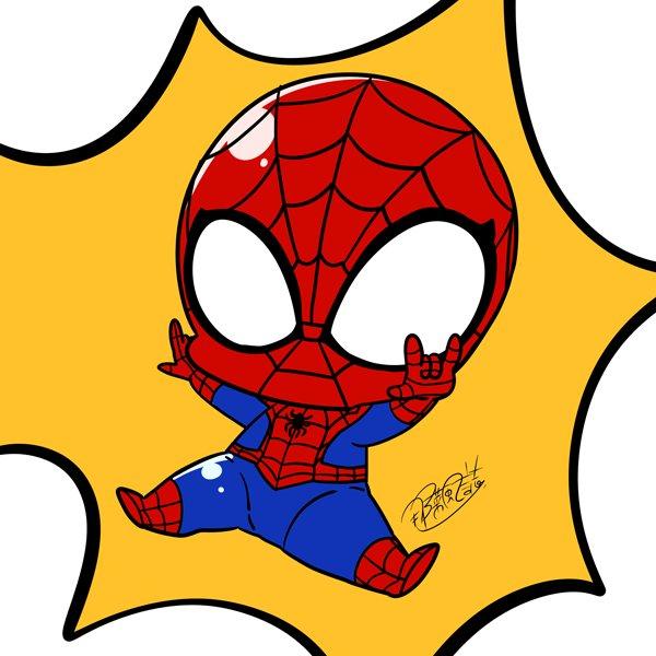 ディズニーXDでアルティメットスパイダーマン見てて描きたくなったので落書き!