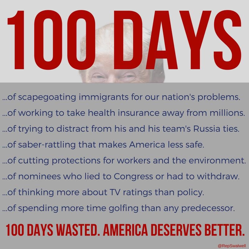 Can we have our 100 days back? #Trump100Days #BrokenPromises https://t.co/ZyUEV02uwu