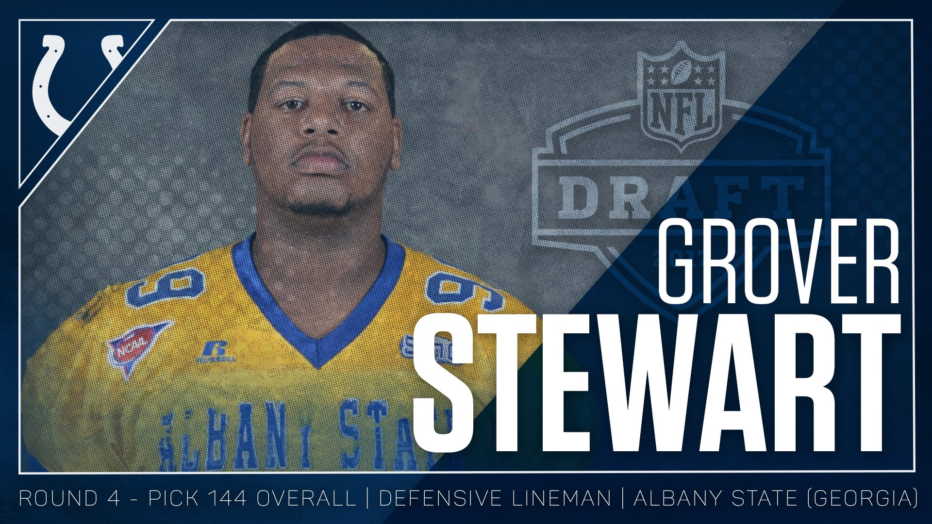 RT and help us welcome DT Grover Stewart to the horseshoe! #ColtsDraft https://t.co/8BJuPmVjOK