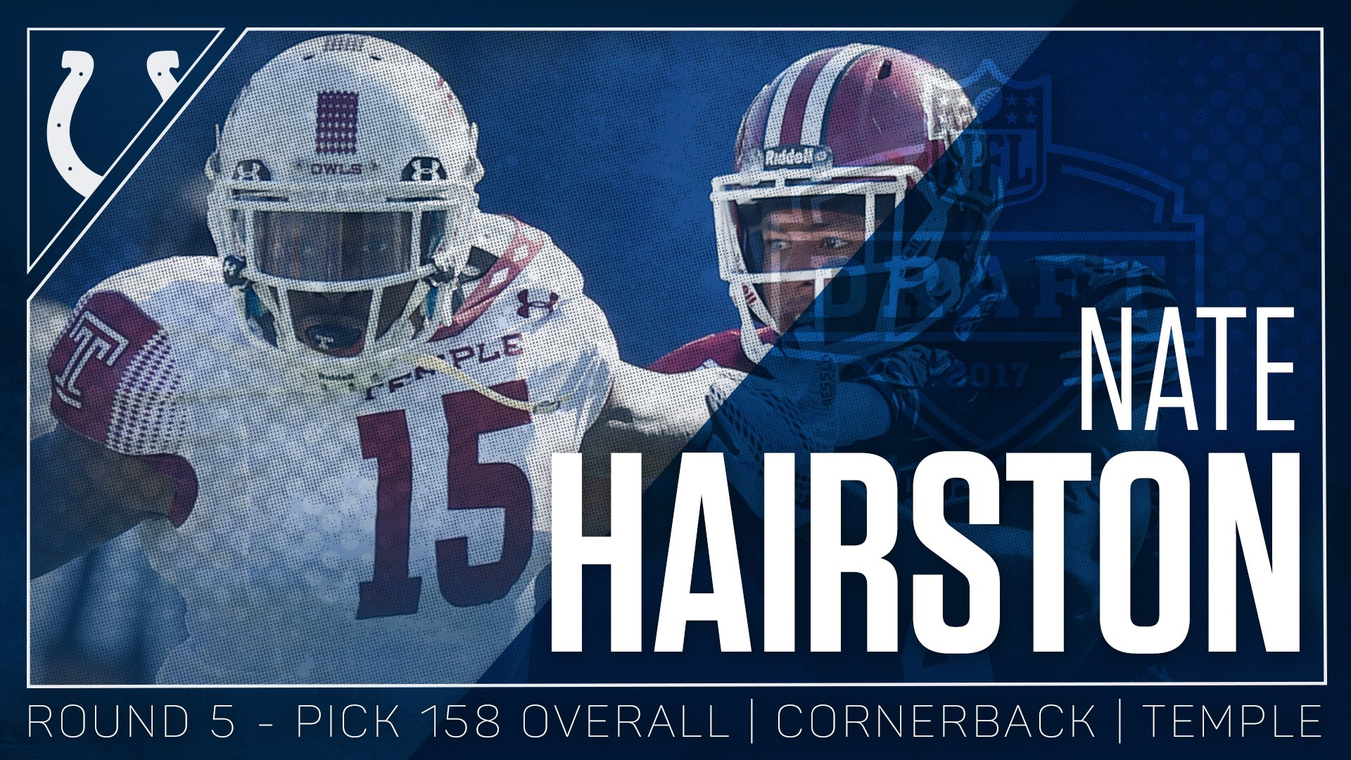 Welcome to the horseshoe, Nate Hairston! #ColtsDraft https://t.co/PBfvDWAYVY