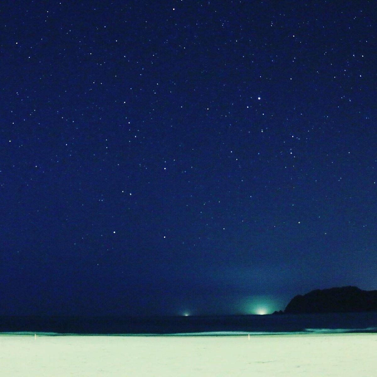 吸い込まれるような星空。Free! でも夜空にきれいな星が描かれていて、きっとロケハンの人たちもこの夜空に感動したのだろ