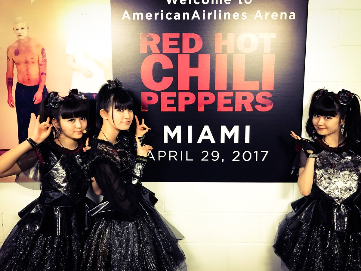 Are you ready #Miami!? Tonight is special jam with @Chilipepperes ! See you soon! #BABYMETAL #Chi...