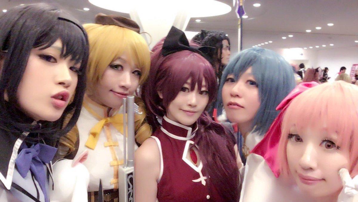 ニコニコ超会議2日目、まどマギあわせで杏子でしたー!みんな超〜〜かわいかったん〜〜(´;Д;`)まどか  ほむら  さや