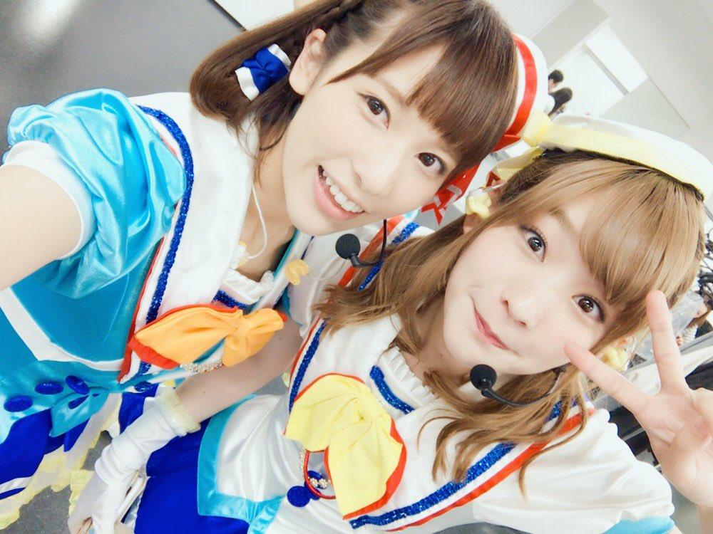 今日はAqours 9人揃って「ミルキィホームズ&ブシロード10周年&スクフェス4周年記念ライブin横浜