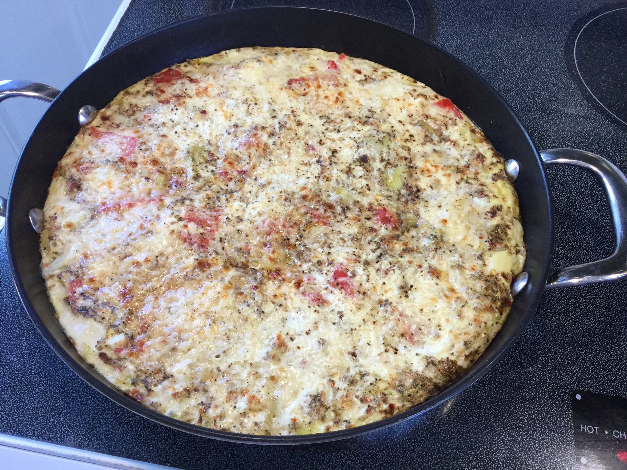 Artichoke and roasted red pepper frittata- nice Sunday brunch in Halifax @ChefJewell https://t.co/xTG1GbVWdX