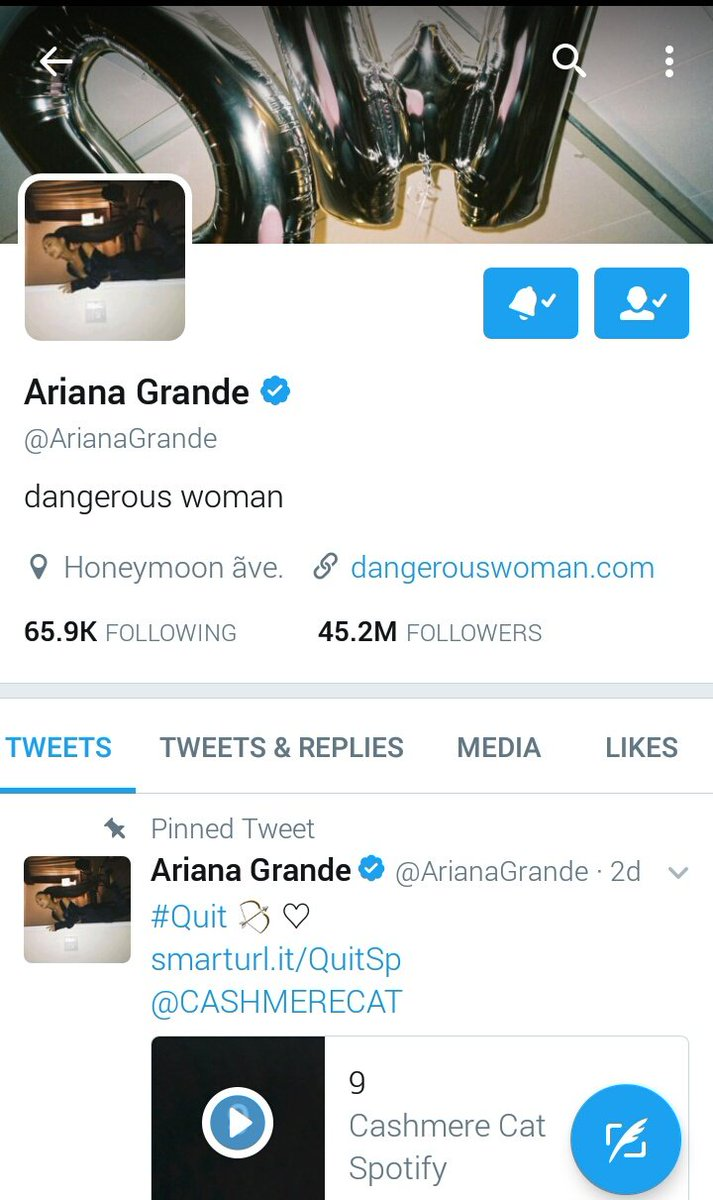 .@ArianaGrande changed her twitter profile picture https://t.co/U1OMmdoaPU