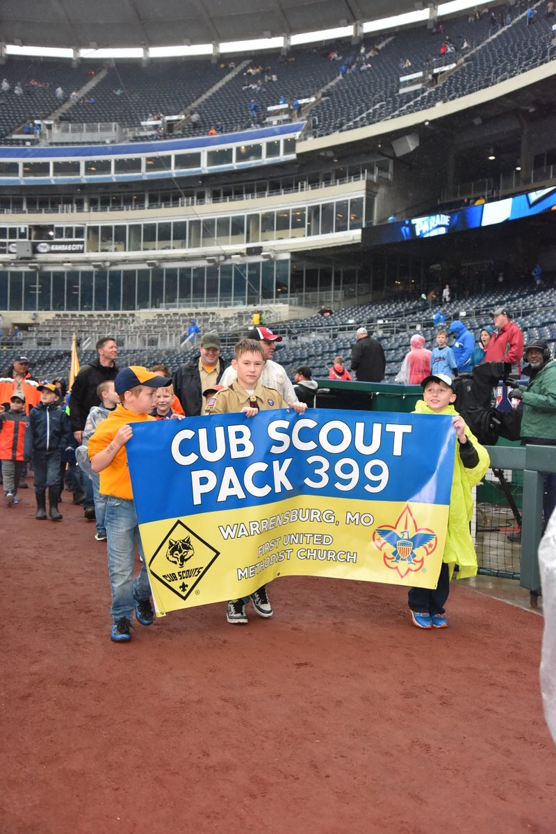 test Twitter Media - A little rain won't stop them! Thousands of Boy Scouts participated in a pregame parade this morning as part of Boy Scouts Day at #TheK. https://t.co/KrfefdHCu9